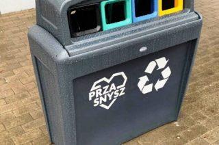 Na ulicach Przasnysza pojemniki do segregacji odpadów