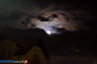 Widzieliście wczoraj księżyc nad Mławą?