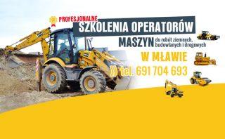 Zapraszamy na kurs do Mławy! Profesjonalne szkolenia operatorów maszyn do robót ziemnych, budowlanych i drogowych