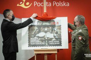 Terytorials na znaczku pocztowym.