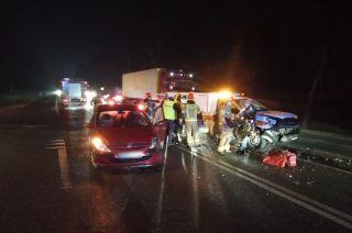 """Wypadek na skrzyżowaniu """"siódemki"""" i Marszałkowskiej [FOTO]"""