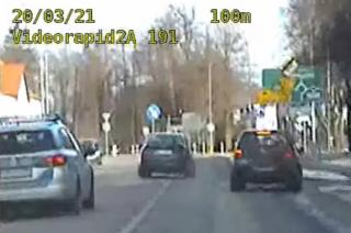 Zobacz sobotni pościg przez dwa powiaty za kierowcą hondy [FILM]