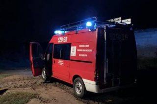 Podejrzenie wycieku gazu z butli. Interweniowali strażacy z OSP Szreńsk