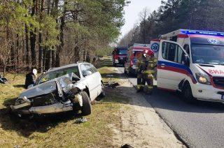 Poważny wypadek pod Przasnyszem. Pięć osób rannych