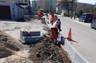 Nowy odcinek chodnika w ulicy Ordona