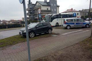 Zderzenie Nissana i Fiata straży miejskiej