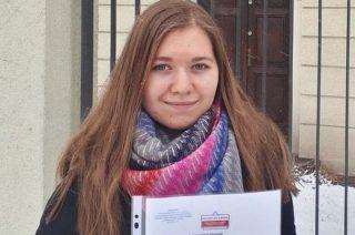 Patrycja Ryska finalistką Ogólnopolskiej Olimpiady Wiedzy o Prawach Człowieka w Świecie Współczesnym
