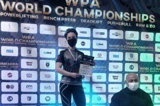 Szer. Małgorzata Bartosiak mistrzynią świata w trójboju siłowym