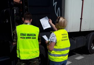 Akcja kontrolna WIOŚ i Straży Granicznej w powiecie mławskim