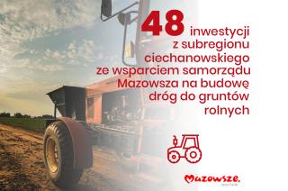 48 inwestycji w subregionie ciechanowskim
