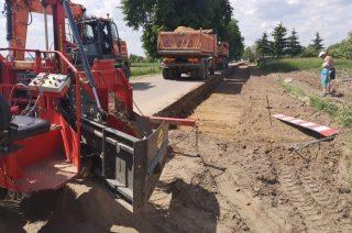 Trwa rozbudowa drogi Głużek – Rumoka