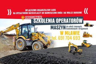 Profesjonalne szkolenia w Mławie! Kurs na operatorów rozściełaczy do nawierzchni dróg
