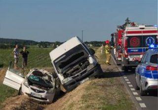 Wypadek pod Rzęgnowem [FOTO]