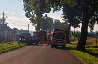 Szreńsk. Auto uderzyło w drzewo