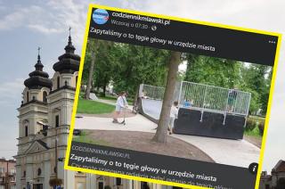 """Obrazek jak z Barei? Mławski skatepark """"sławny"""" na całą Polskę"""