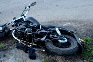 Zderzenie dwóch motocyklistów w Dębsku