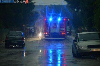 67 strażackich interwencji. Zalane drogi i piwnice, zerwany dach i połamane drzewa