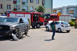 Zderzenie na skrzyżowaniu Grzebskiego i Szewskiej [FOTO]