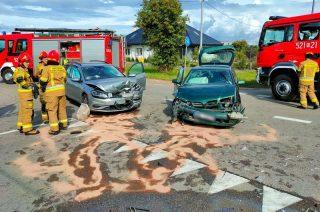 Zderzenie dwóch aut na Padlewskiego [FOTO]