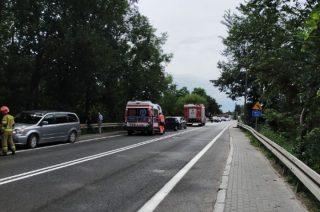 Zderzenie trzech aut w Strzegowie
