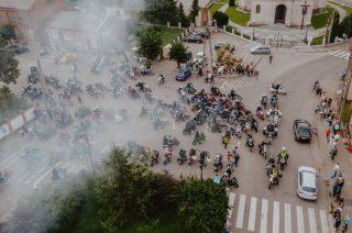 Motocyklowa parada w Radzanowie