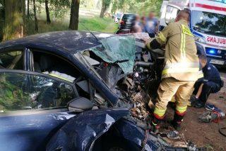 Wypadek koło Radzanowa. Jedna osoba ranna. Aktualizacja