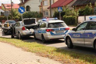 Ścigała go mławska policja. Wpadł na blokadzie w Przasnyszu [VIDEO]