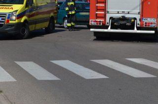 Wypadek na Grzebskiego. Kobieta potrącona na pasach. Aktualizacja