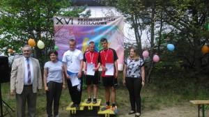 6. w czerwonych koszulkach zawodnicy Mławy, złoto: Marcin Benecki, brąz: Jan Fydrych